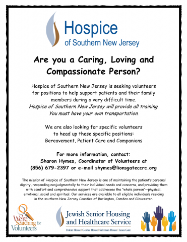 Why We Must Be Patient When Searching >> Are You A Caring Loving And Compassionate Person Hospice Of